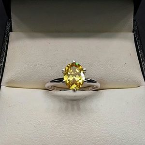 1.50cts AAA Yellow Diamonds 925 Sterling Silver